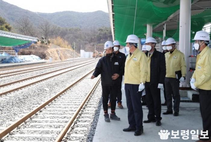 해빙기 안전점검(장항선개량 2단계 철도건설사업 3·4공구 건설현장).jpg